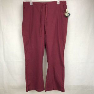 Peaches WINE size 2XL Scrub Pants #7046 - Pockets